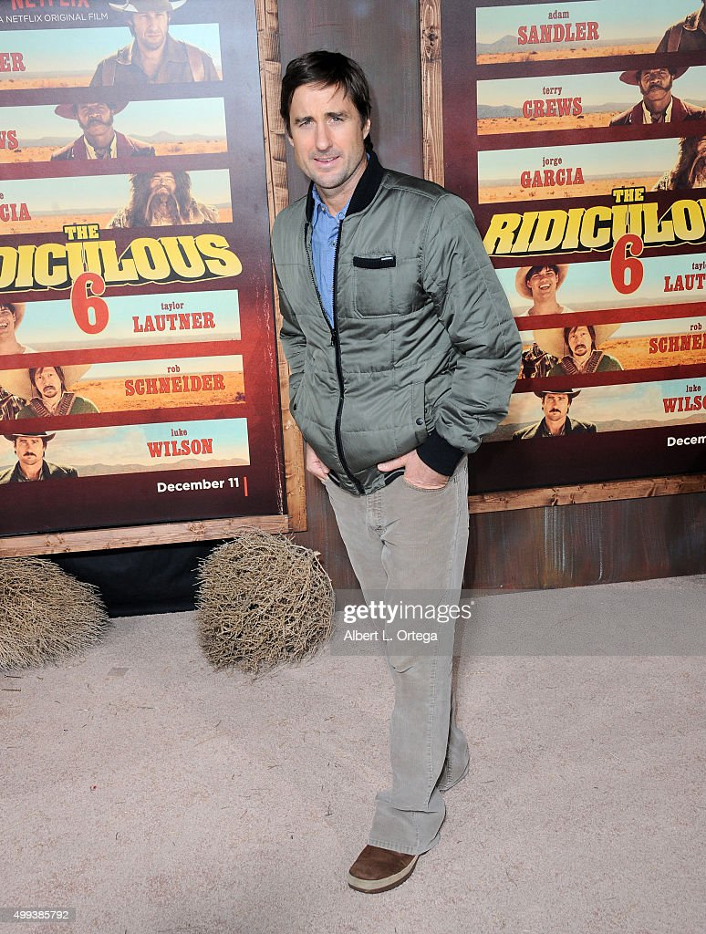 Actor Luke Wilson arrives for the premiere of Netflix's 'The Ridiculous 6' held at AMC Universal City Walk on November 30, 2015 in Universal City, California.