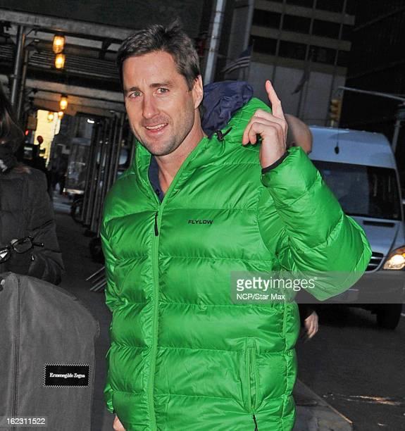 Actor Luke Wilson as seen on February 21 2013 in New York City