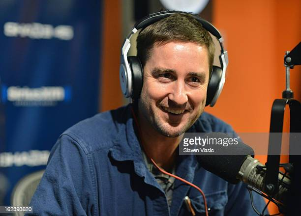 Actor Luke Wilson attends 'Sway in the Morning' on Eminem's Shade 45 channel SiriusXM Studios on February 22 2013 in New York City