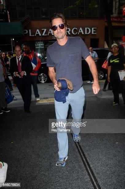 Actor Luke Wilson enters the 'Today Show' taping at the NBC Rockefeller Center Studios on September 12 2017 in New York City