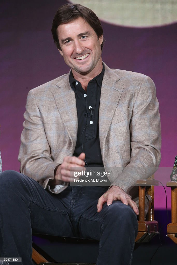 Actor Luke Wilson speaks onstage during the 'Roadies' panel discussion at the CBS/ShowtimeTelevision Group portion of the 2015 Winter TCA Tour at the Langham Huntington Hotel on January 12, 2016 in Pasadena, California