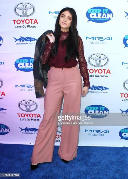 Actor Luna Blaise attends Keep It Clean Live Comedy Benefit for Waterkeeper Alliance at Avalon Hollywood on April 20 2017 in Los Angeles California