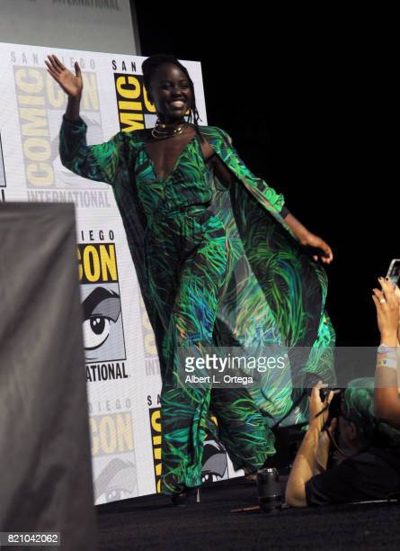 Actor Lupita Nyong'o at ComicCon International 2017 Marvel Studios 'Black Panther' Presentation at San Diego Convention Center on July 22 2017 in San...