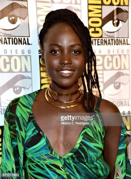 Actor Lupita Nyong'o from Marvel Studios' 'Black Panther' at the San Diego ComicCon International 2017 Marvel Studios Panel in Hall H on July 22 2017...