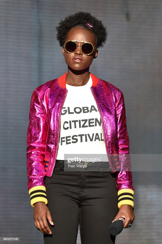 Actor Lupita Nyong'o speaks onstage during the 2017 Global Citizen Festival in Central Park on September 23, 2017 in New York City.
