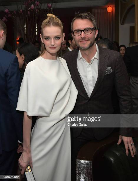 Actor Lydia Hearst and comedian Chris Hardwick attend Vanity Fair and L'Oreal Paris Toast to Young Hollywood hosted by Dakota Johnson and Krista...