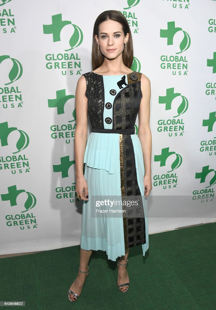 Actor Lyndsy Fonseca attends the 14th Annual Global Green Pre Oscar Party at TAO Hollywood on February 22, 2017 in Los Angeles, California.
