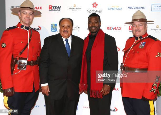 Actor Lyric Bent and Martin Luther King III attend the 2017 Canada's Walk Of Fame Inductee Ceremony at The Liberty Grand on November 15 2017 in...