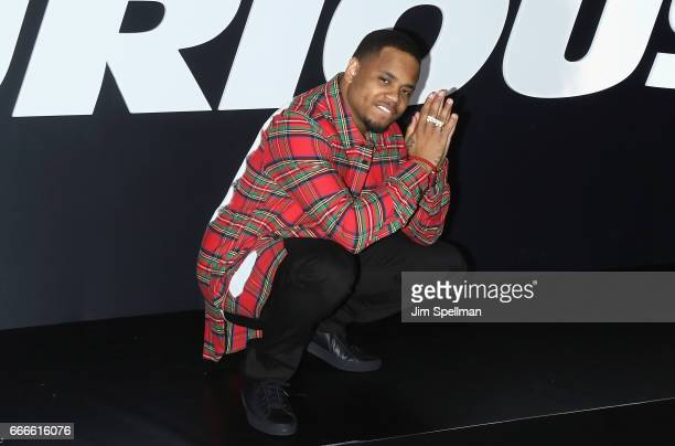 Actor Mack Wilds attends 'The Fate Of The Furious' New York premiere at Radio City Music Hall on April 8 2017 in New York City