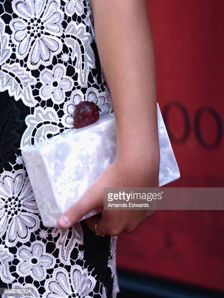 Actor Mackenzie Ziegler accessory detail attends the opening night premiere of Focus Features' 'The Book of Henry' during the 2017 Los Angeles Film...