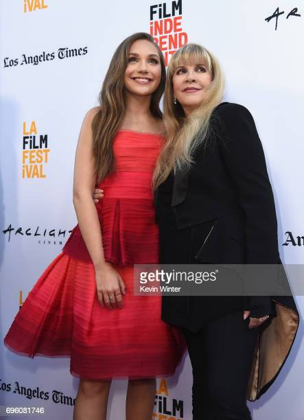 Actor Maddie Ziegler and singersongwriter Stevie Nicks attend the opening night premiere of Focus Features' 'The Book of Henry' during the 2017 Los...