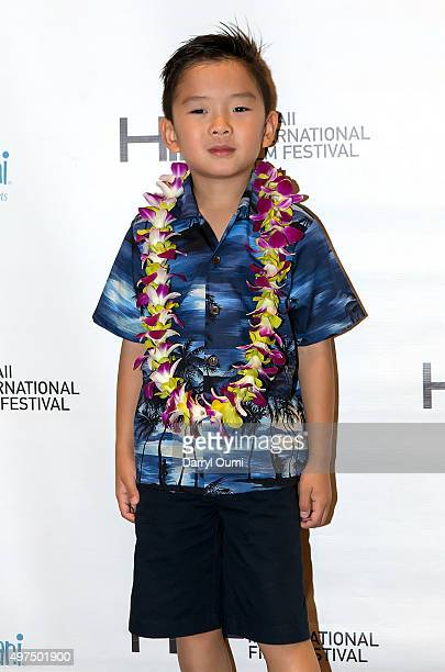 Actor Maddox Lim arrives at the 2015 Hawaii International Film Festival for the world premiere of 'Pali Road' on November 16 2015 in Honolulu Hawaii
