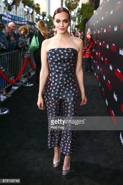 Actor Madeline Brewer attends the premiere of Hulu's 'The Handmaid's Tale' at ArcLight Cinemas Cinerama Dome on April 25 2017 in Hollywood California