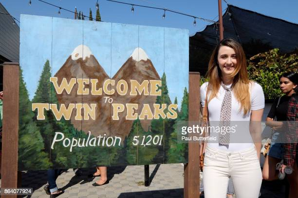 Actor Madeline Zima poses at Showtime's 'Twin Peaks' Double R Diner PopUp on Melrose Avenue on October 20 2017 in Los Angeles California