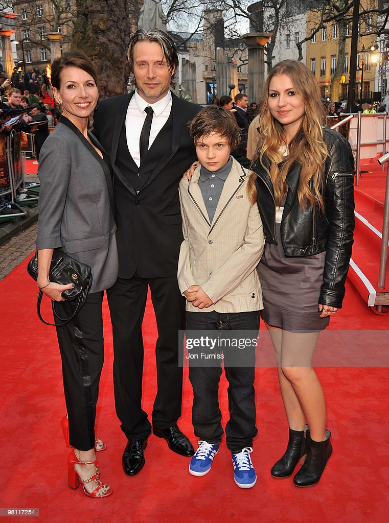 Actor Mads Mikkelsen and family attend the 'Clash Of The Titans' world premiere at the Empire Leicester Square on March 29 2010 in London England