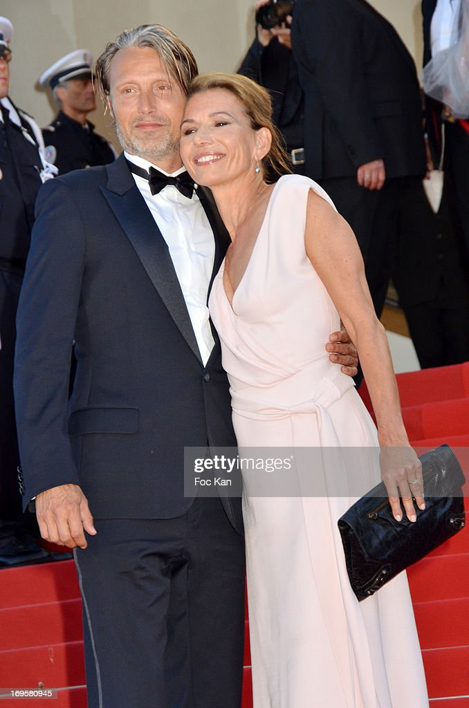 Actor Mads Mikkelsen and Hanne Jacobsen attend the Premiere of 'Zulu' and the Closing Ceremony of The 66th Annual Cannes Film Festival at Palais des Festivals on May 26, 2013 in Cannes, France.