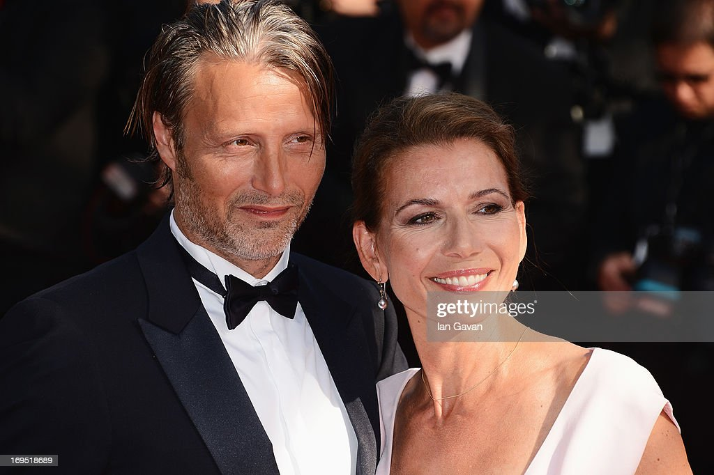 Actor Mads Mikkelsen and wife Hanne Jacobsen attend the 'Zulu' Premiere and Closing Ceremony during the 66th Annual Cannes Film Festival at the Palais des Festivals on May 26, 2013 in Cannes, France.