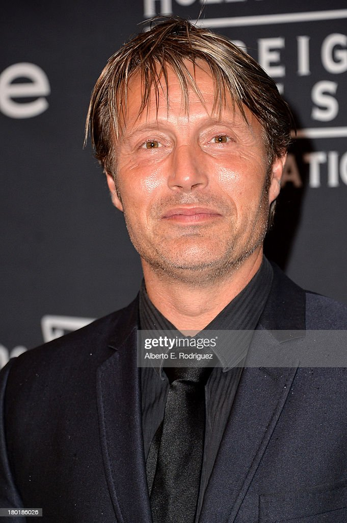 Actor Mads Mikkelsen arrives at the TIFF HFPA / InStyle Party during the 2013 Toronto International Film Festival at Windsor Arms Hotel on September 9, 2013 in Toronto, Canada.