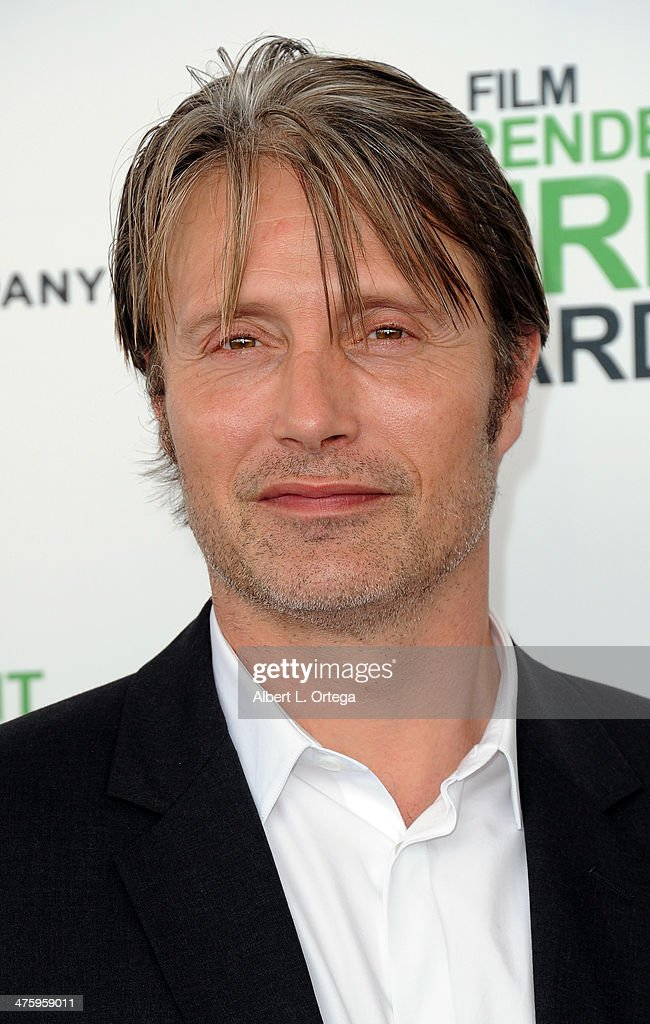 Actor Mads Mikkelsen arrives for the 2014 Film Independent Spirit Awards held at the beach on March 1, 2014 in Santa Monica, California.