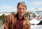 Actor Mads Mikkelsen attends as Deutsche Telekom and Asger Leth launch 'Move On' during the 65th Cannes Film Festival aboard Harle at Old Port on May...