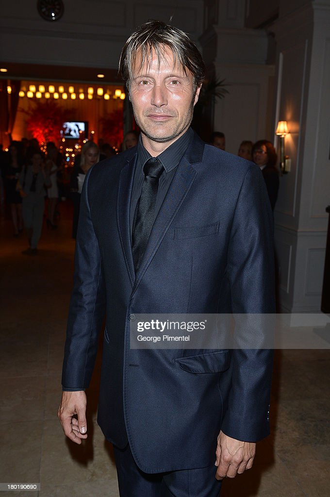 Actor Mads Mikkelsen attends InStyle and the Hollywood Foreign Press Association's Annual Toronto International Film Festival Party, hosted by Salvatore Ferragamo on Monday, September 9, 2013 held at the Windsor Arms Hotel in Toronto, Canada.