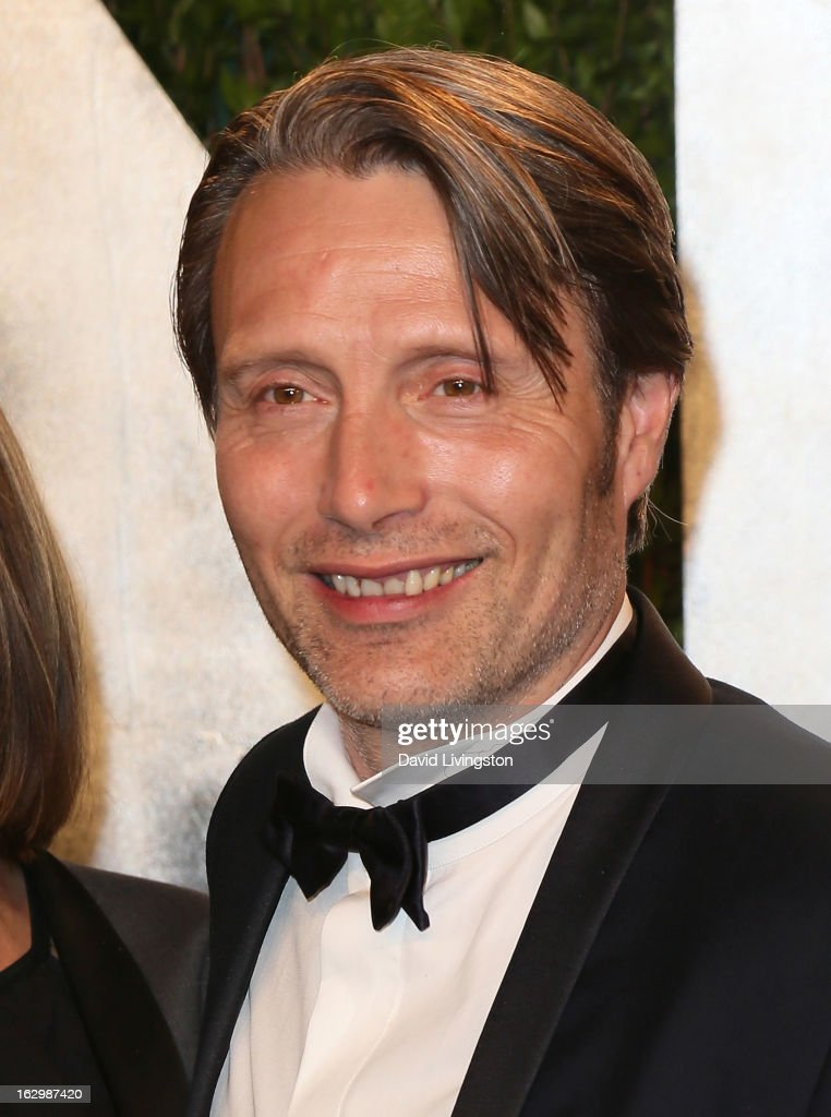 Actor Mads Mikkelsen attends the 2013 Vanity Fair Oscar Party at the Sunset Tower Hotel on February 24, 2013 in West Hollywood, California.