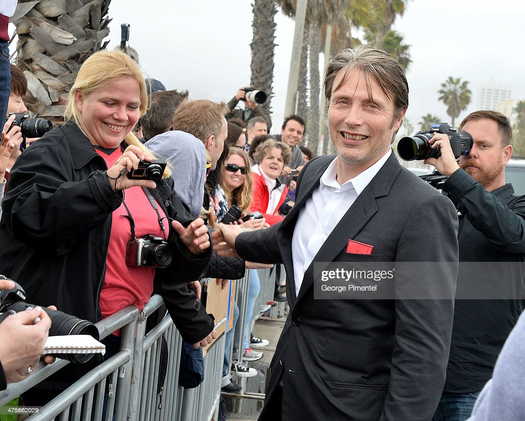 Actor Mads Mikkelsen attends the 2014 Film Independent Spirit Awards at Santa Monica Beach on March 1, 2014 in Santa Monica, California.