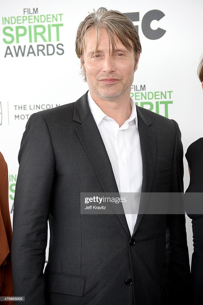 Actor Mads Mikkelsen attends the 2014 Film Independent Spirit Awards on March 1, 2014 in Santa Monica, California.