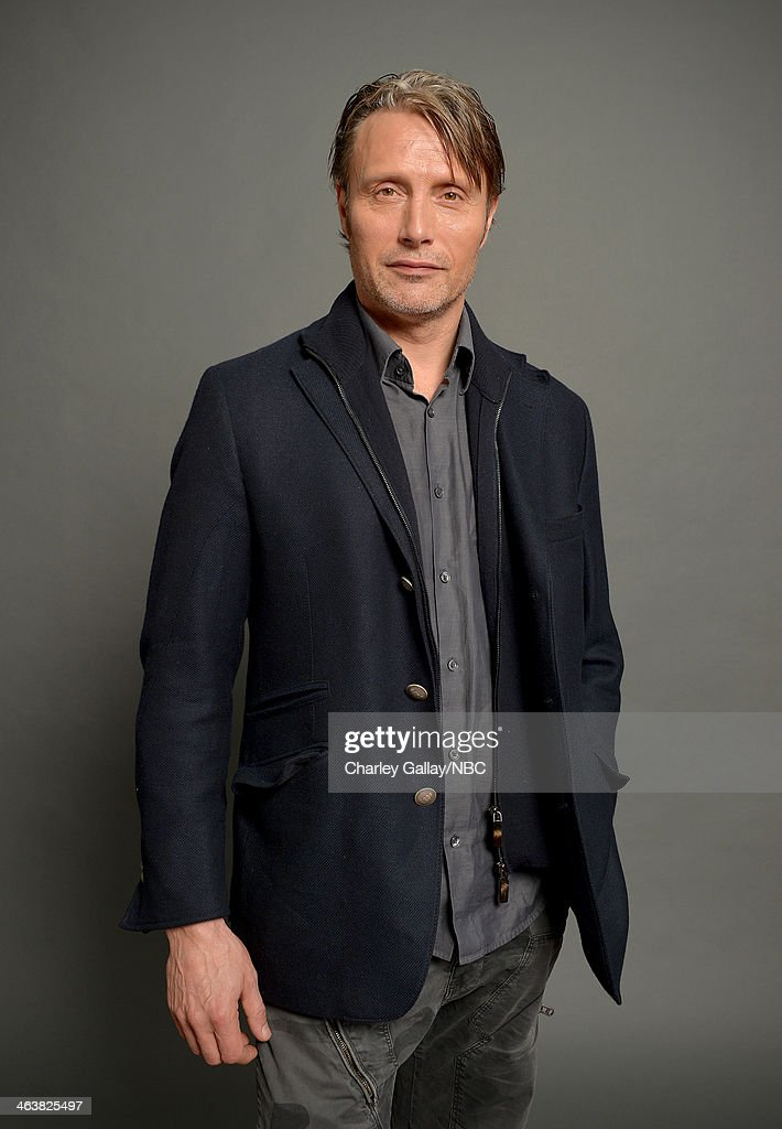 Actor <a gi-track='captionPersonalityLinkClicked' href=/galleries/search?phrase=Mads+Mikkelsen&family=editorial&specificpeople=3003791 ng-click='$event.stopPropagation()'>Mads Mikkelsen</a> attends the 2014 NBCUniversal TCA Winter Press Tour Portraits at Langham Hotel on January 19, 2014 in Pasadena, California.