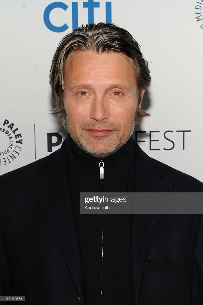 Actor <a gi-track='captionPersonalityLinkClicked' href=/galleries/search?phrase=Mads+Mikkelsen&family=editorial&specificpeople=3003791 ng-click='$event.stopPropagation()'>Mads Mikkelsen</a> attends the 2nd annual Paleyfest New York presents: 'Hannibal' at Paley Center For Media on October 18, 2014 in New York, New York.
