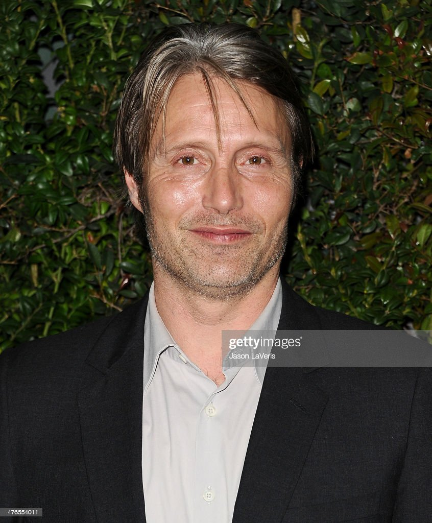 Actor <a gi-track='captionPersonalityLinkClicked' href=/galleries/search?phrase=Mads+Mikkelsen&family=editorial&specificpeople=3003791 ng-click='$event.stopPropagation()'>Mads Mikkelsen</a> attends the Chanel and Charles Finch pre-Oscar dinner at Madeo Restaurant on March 1, 2014 in Los Angeles, California.