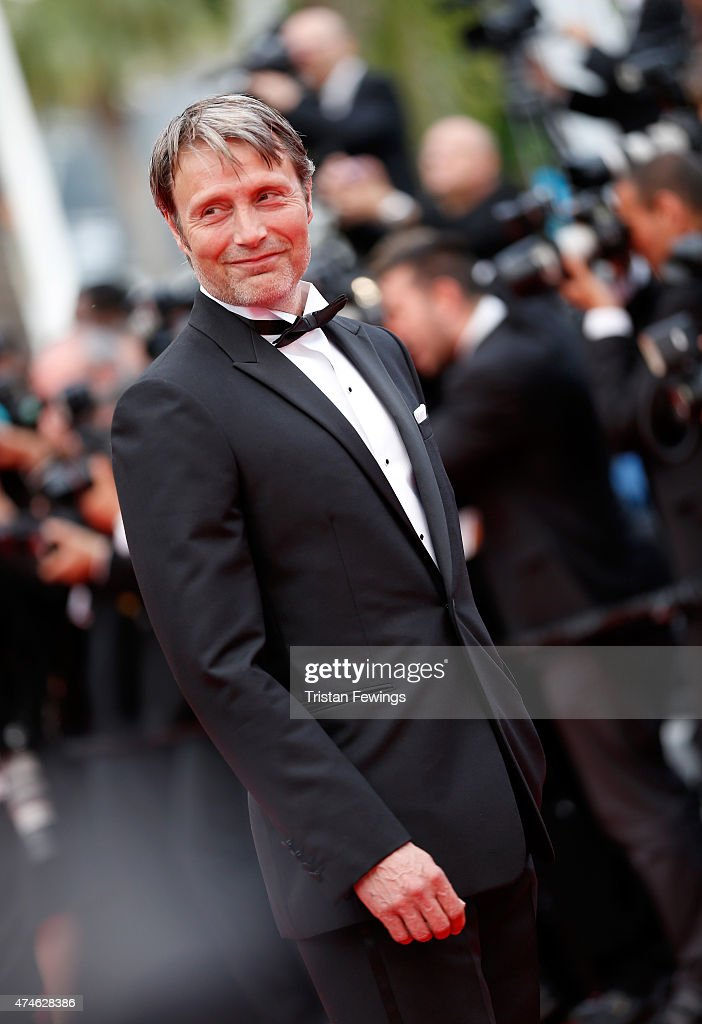 Actor Mads Mikkelsen attends the closing ceremony and 'Le Glace Et Le Ciel' Premiere during the 68th annual Cannes Film Festival on May 24 2015 in...