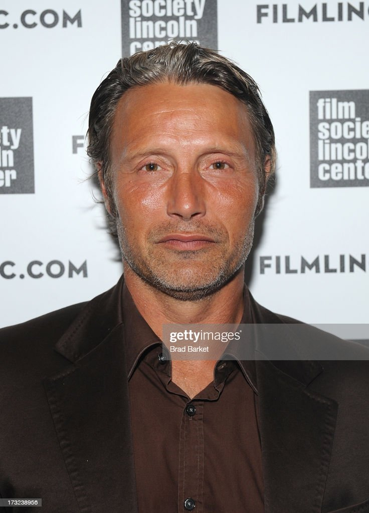 Actor Mads Mikkelsen attends 'The Hunt' New York Premiere at Elinor Bunin Munroe Film Center on July 10, 2013 in New York City.