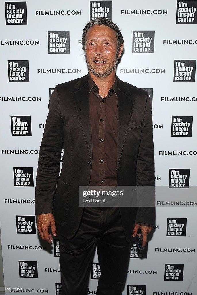 Actor Mads Mikkelsen attends 'The Hunt' New York Premiere at Elinor Bunin Munroe Film Center on July 10, 2013 in New York City.