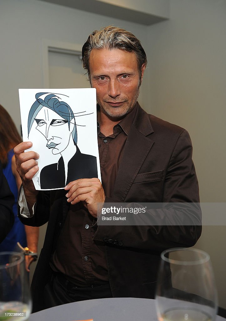 Actor <a gi-track='captionPersonalityLinkClicked' href=/galleries/search?phrase=Mads+Mikkelsen&family=editorial&specificpeople=3003791 ng-click='$event.stopPropagation()'>Mads Mikkelsen</a> attends 'The Hunt' New York Premiere at Elinor Bunin Munroe Film Center on July 10, 2013 in New York City.