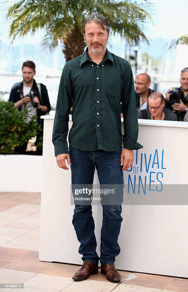 Actor Mads Mikkelsen attends the 'Saint Laurent' photocall at the 67th Annual Cannes Film Festival on May 17 2014 in Cannes France