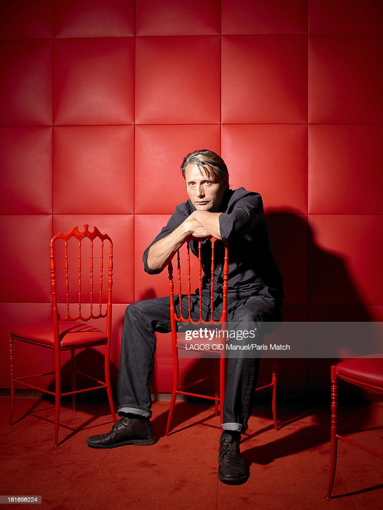 Actor Mads Mikkelsen is photographed for Paris Match on August 29, 2013 in Paris, France.