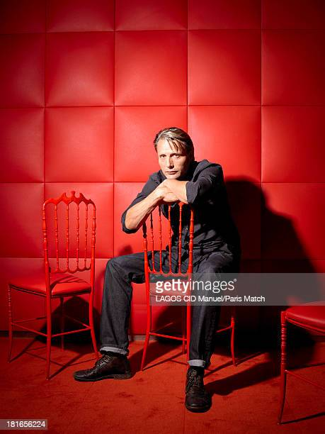 Actor Mads Mikkelsen is photographed for Paris Match on August 29 2013 in Paris France