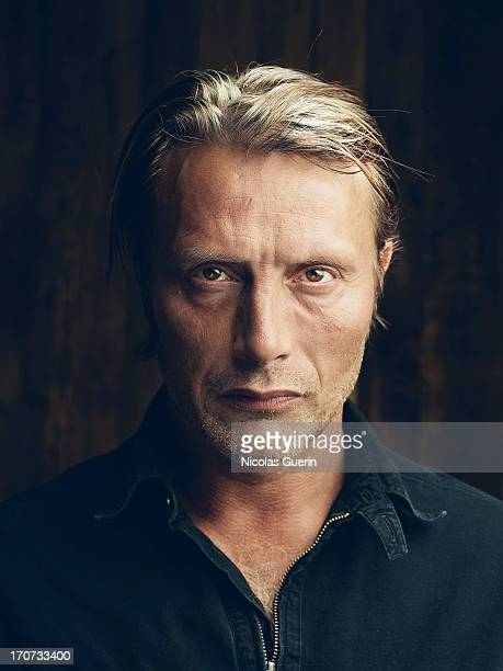 Actor Mads Mikkelsen is photographed for Self Assignment on May 20 2013 in Cannes France