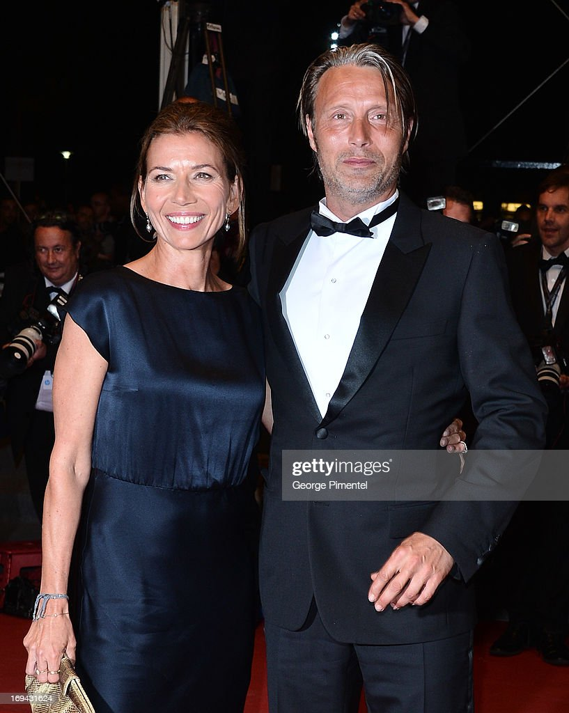 Actor Mads Mikkelsen with wife Hanne Jacobsen attend the Premiere of 'Michael Kohlhaas' at The 66th Annual Cannes Film Festival on May 24, 2013 in Cannes, France.