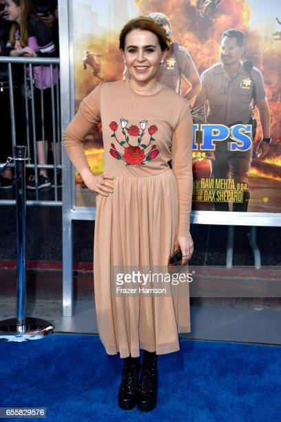 Actor Mae Whitman at the premiere of Warner Bros Pictures' 'CHiPS' at TCL Chinese Theatre on March 20 2017 in Hollywood California