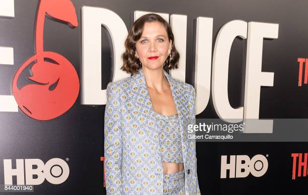 Actor Maggie Gyllenhaal attends 'The Deuce' New York premiere at SVA Theater on September 7 2017 in New York City
