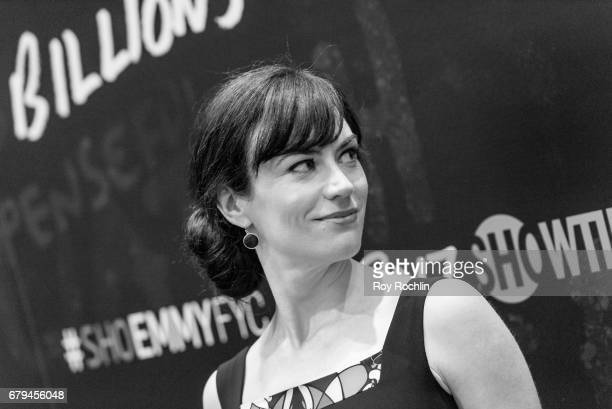 Actor Maggie Siff attends Showtime's 'Billions' For Your Consideration Red Carpet Event at NYIT Auditorium on May 5 2017 in New York City