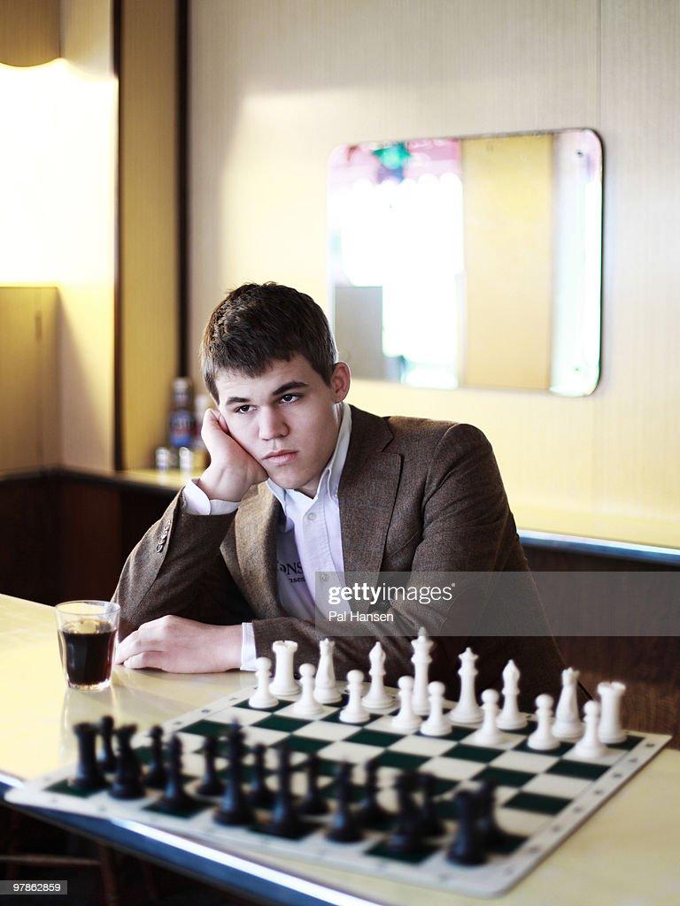 Actor Magnus Carlsen pose for a portrait shoot in London on November 12, 2009.