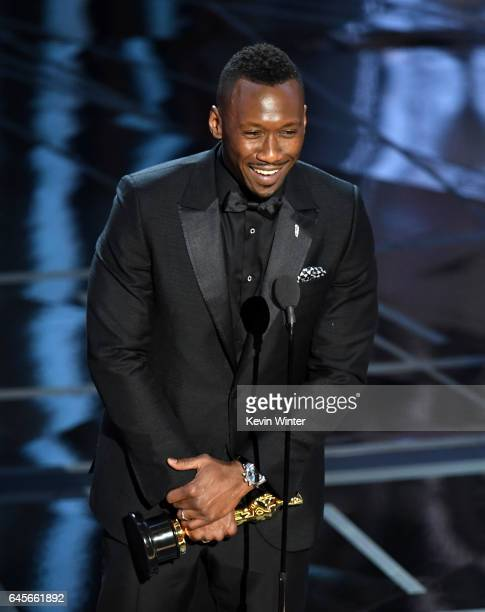 Actor Mahershala Ali accepts Best Supporting Actor for 'Moonlight' onstage during the 89th Annual Academy Awards at Hollywood Highland Center on...