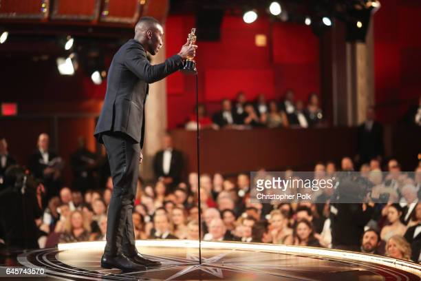 Actor Mahershala Ali accepts the Best Supporting Actor award for 'Moonlight' onstage during the 89th Annual Academy Awards at Hollywood Highland...