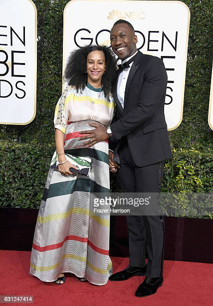 Actor Mahershala Ali and Amatus SamiKarim attend the 74th Annual Golden Globe Awards at The Beverly Hilton Hotel on January 8 2017 in Beverly Hills...