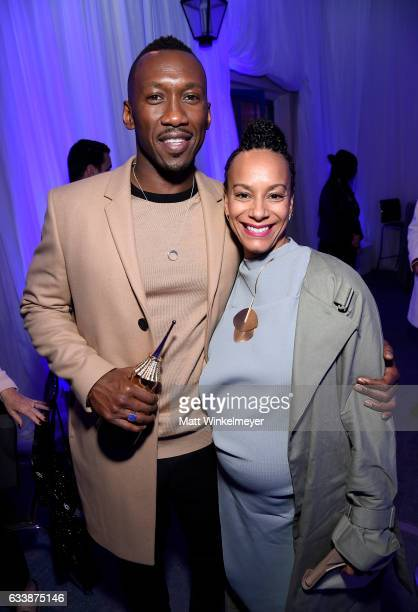 Actor Mahershala Ali and Amatus SamiKarim attend the Virtuosos Award presented by UGG during the 32nd Santa Barbara International Film Festival at...
