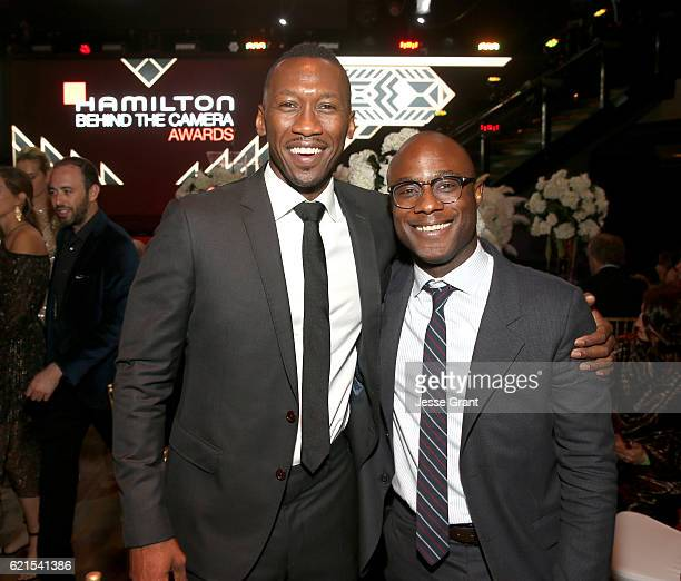 Actor Mahershala Ali and honoree Barry Jenkins attends the Hamilton Behind The Camera Awards presented by Los Angeles Confidential Magazine at...