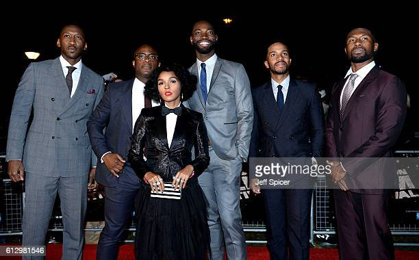 Actor Mahershala Ali director Barry Jenkins actress Janelle Monáe writer and executive producer Tarell Alvin McCraney and actors Andre Holland and...